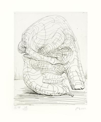 Henry Moore-Elephant Skull Plate VII-1969