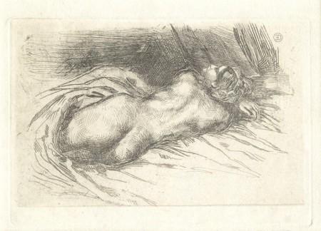 Eugene Delacroix-Etude de Femme Vue de Dos-1833