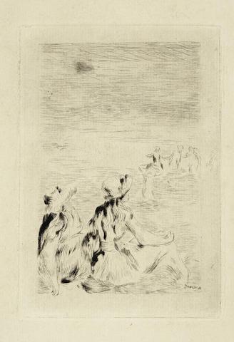 Pierre-Auguste Renoir-Sur La Plage, A Berneval (Delteil  5)-1892