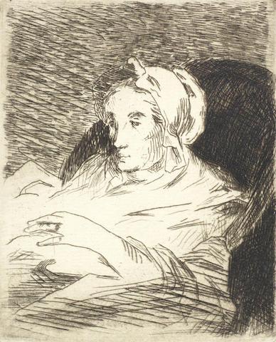 Edouard Manet-La Convalescente, two impressions (Harris 85)-1884