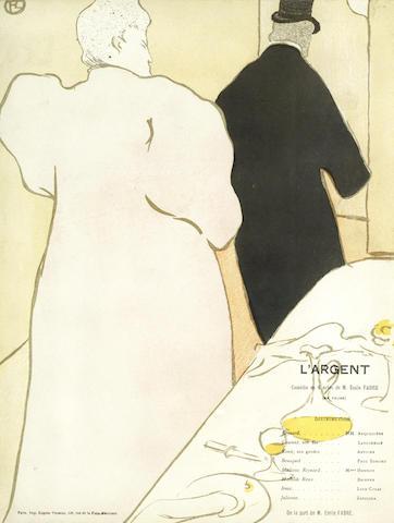 Henri de Toulouse-Lautrec-Programme pour L'Argent unframed-1895