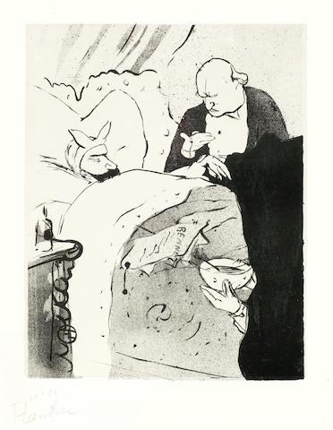 Henri de Toulouse-Lautrec-Sick Carnot (Carnot Malade!)-1893