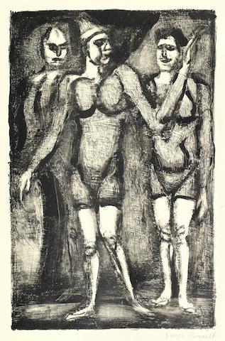 Georges Rouault-Three Lithographs (Lutteuse, Bonimont du Clown, Parade)-1929
