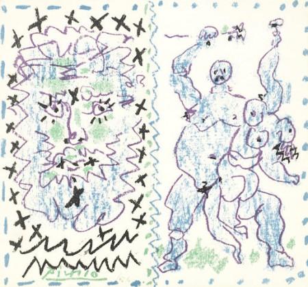 Pablo Picasso-Couverture pour une catalogue; Le Grand Verre-1957