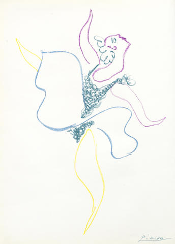 Pablo Picasso-Danseuse, from 'Le Ballet vol-1954