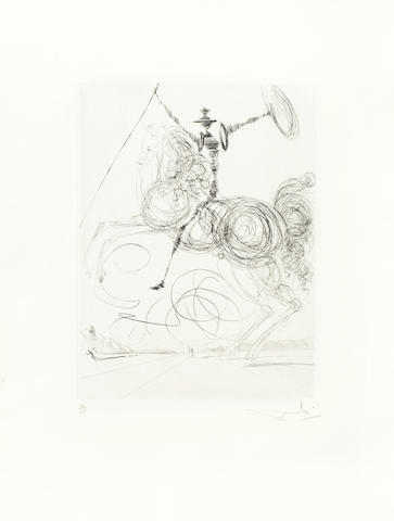 Salvador Dali-Don Quichotte-1964