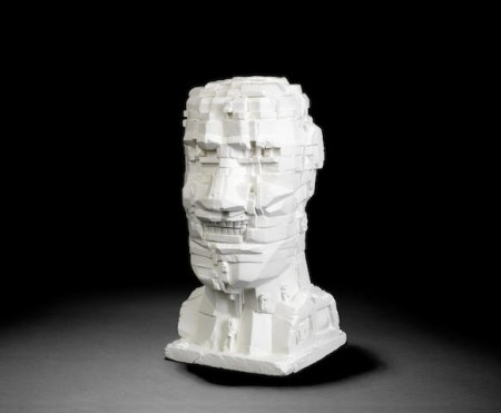 Eduardo Paolozzi-Untitled head ('NYB' London, 1993)-1993