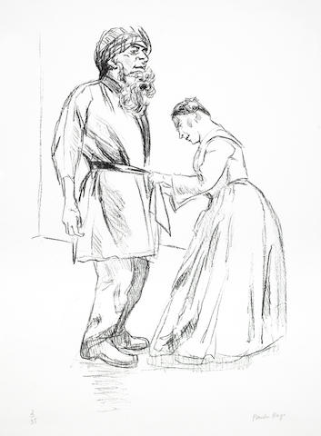 Paula Rego-Dressing Him Up As Bluebeard, from Jane Eyre - Poetry and Story-2002