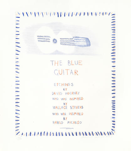 David Hockney-The Blue Guitar-1977