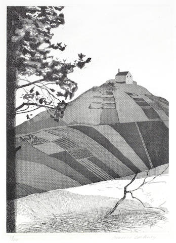 David Hockney-A Wooded Landscape,  from Illustrations for Six Fairy Tales from the Brothers Grimm-1969