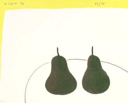 William Scott-Dark Pears-1974