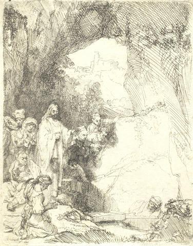 Rembrandt van Rijn-The Raising of Lazarus: Small Plate-1642