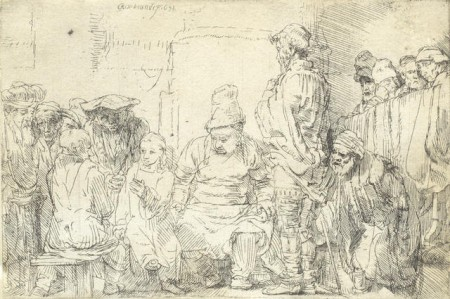 Christ seated disputing with the doctors-1654