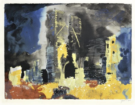John Piper-Ruined Church, Bawsey-1982
