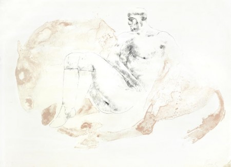 Elisabeth Frink-Man and Horse II-1971