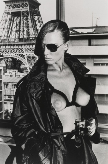 Helmut Newton-Gunilla Bergstrom At The Eiffel Tower-1976