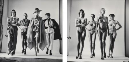Helmut Newton-Sie Kommen (Dressed)' And 'Sie Kommen (Naked)-1981