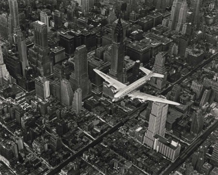 Margaret Bourke-White-A Dc-4 Flying Over New York City-1939