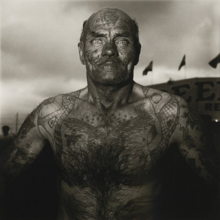 Diane Arbus-Tattooed Man at A Carnival Md-1970