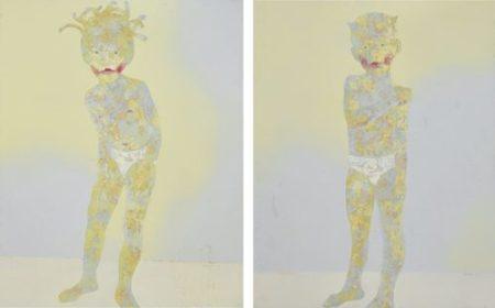 Guo Jin-Child's Portrait No 2 & No. 5 (Two Works)-2002