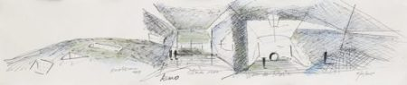 Tadao Ando-Drawing Of Chichu Museum-2015