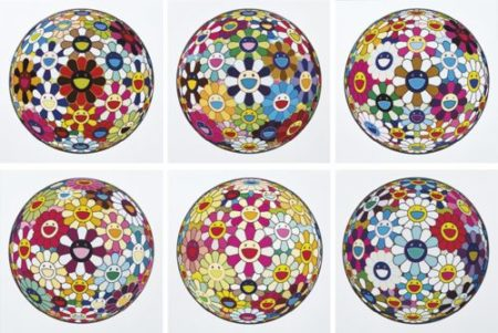 Takashi Murakami-Flower Ball And Other (Six Works)-2013