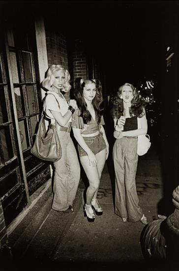 Marlene, Colette And Naomi On The Street, Boston-1973