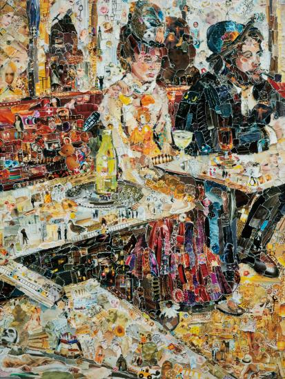 Vik Muniz-The Absinthe Drinker, After Edgar Degas From Pictures Of Magazines Ii-2011