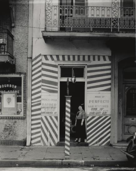 Sidewalk And Shopfront, New Orleans-1935