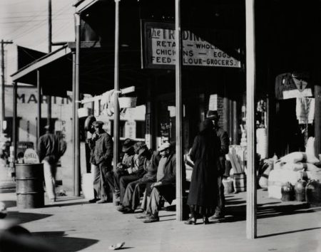 Walker Evans-Sidewalk Scene, Selma, Alabama, December-1935