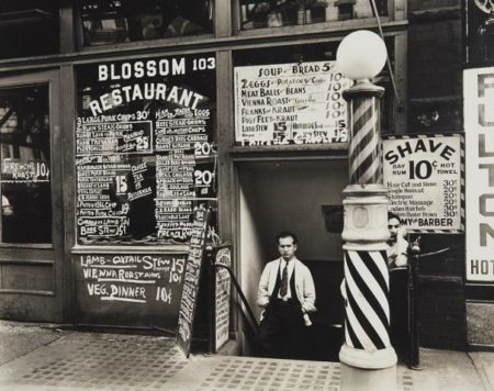 Berenice Abbott-Blossom Restaurant, 103 Bowery, Manhattan-1935