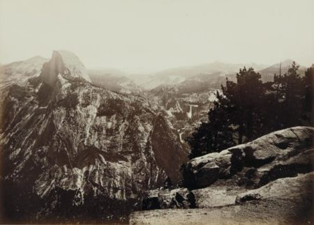 Carleton Watkins-The Half Dome, Vernal And Nevada Falls, From Glacier Point Yosemite-1881