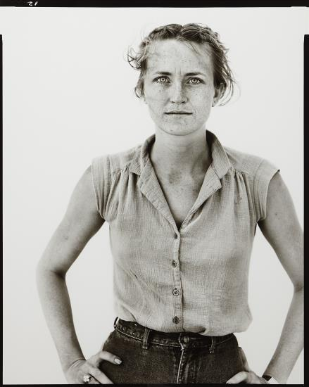 Richard Avedon-Peggy Daniels, Cashier, Giddings, Tx, May 7-1981