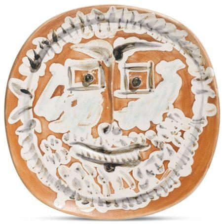 Pablo Picasso-Visage Aux Yeux Carres (A. R. 415)-1959
