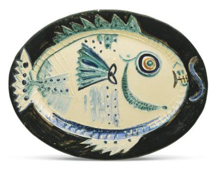 Pablo Picasso-Poisson De Profil (A. R. 132)-1951