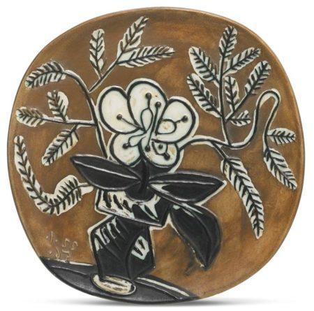 Pablo Picasso-Vase Au Bouquet (A. R. 303)-1965