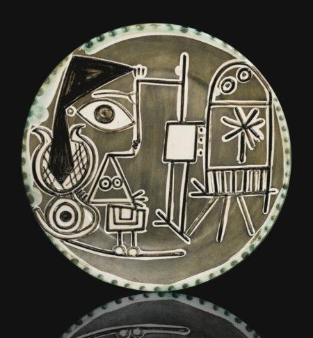 Pablo Picasso-Jacqueline Au Chevalet (A. R. 333)-1956