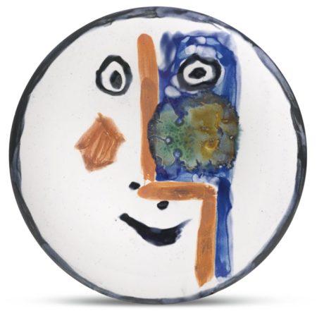 Pablo Picasso-Visage No. 193 (A. R. 493)-1963