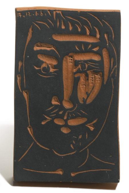 Pablo Picasso-Visage D'Homme (A. R. 539)-1966