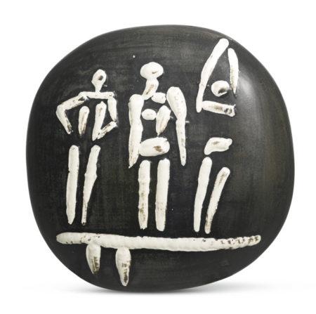 Pablo Picasso-Trois Personnages Sur Tremplin (A. R. 374)-1956