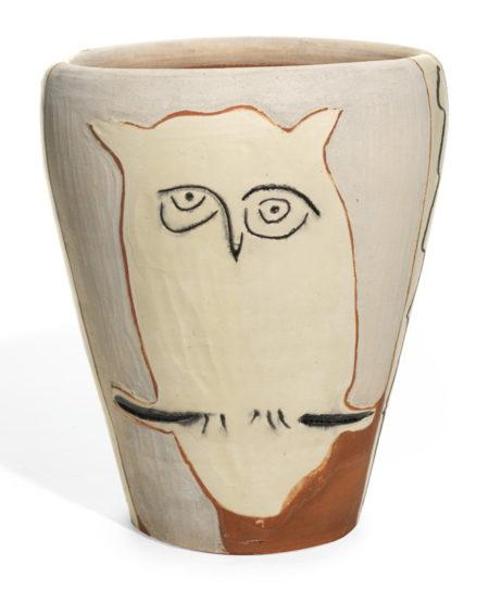 Pablo Picasso-Visage Et Hibou (A. R. 407)-1958