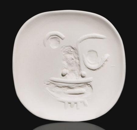 Pablo Picasso-Visage Aux Yeux Ronds (A. R. 452)-1960