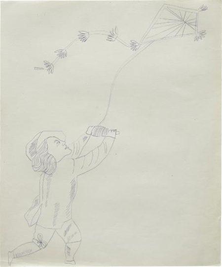Andy Warhol-Male Costume Figure-1954