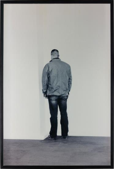 Santiago Sierra-Person Facing Into A Corner-2002