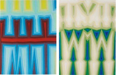 Tauba Auerbach-Two Works: (I) Fold / Slice Topo I; (II) Fold / Slice Topo II-2011