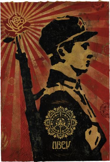 Shepard Fairey-Rose Soldier-2007