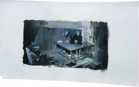 Adrian Ghenie-Study For The Trial-2010