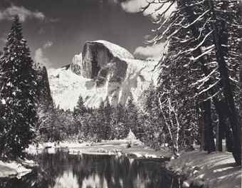 Ansel Adams-Half Dome, Merced River, Winter, Yosemite National Park, California-1938