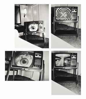 Bruce Conner-June 10, 1978 @1:20-1:27 AM, Late Night Movie on TV: Sterns Motel, Venice, CA-1986