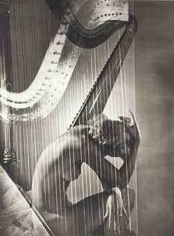 Horst P. Horst-Lisa with Harp-1939